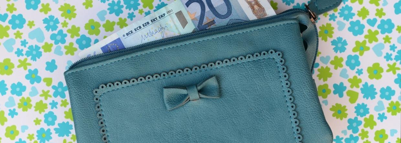 Prinsjesdag portemonnee met geld